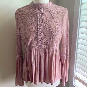 AEO Mauve Pink Blouse